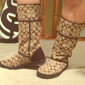 Coach waterproof boots